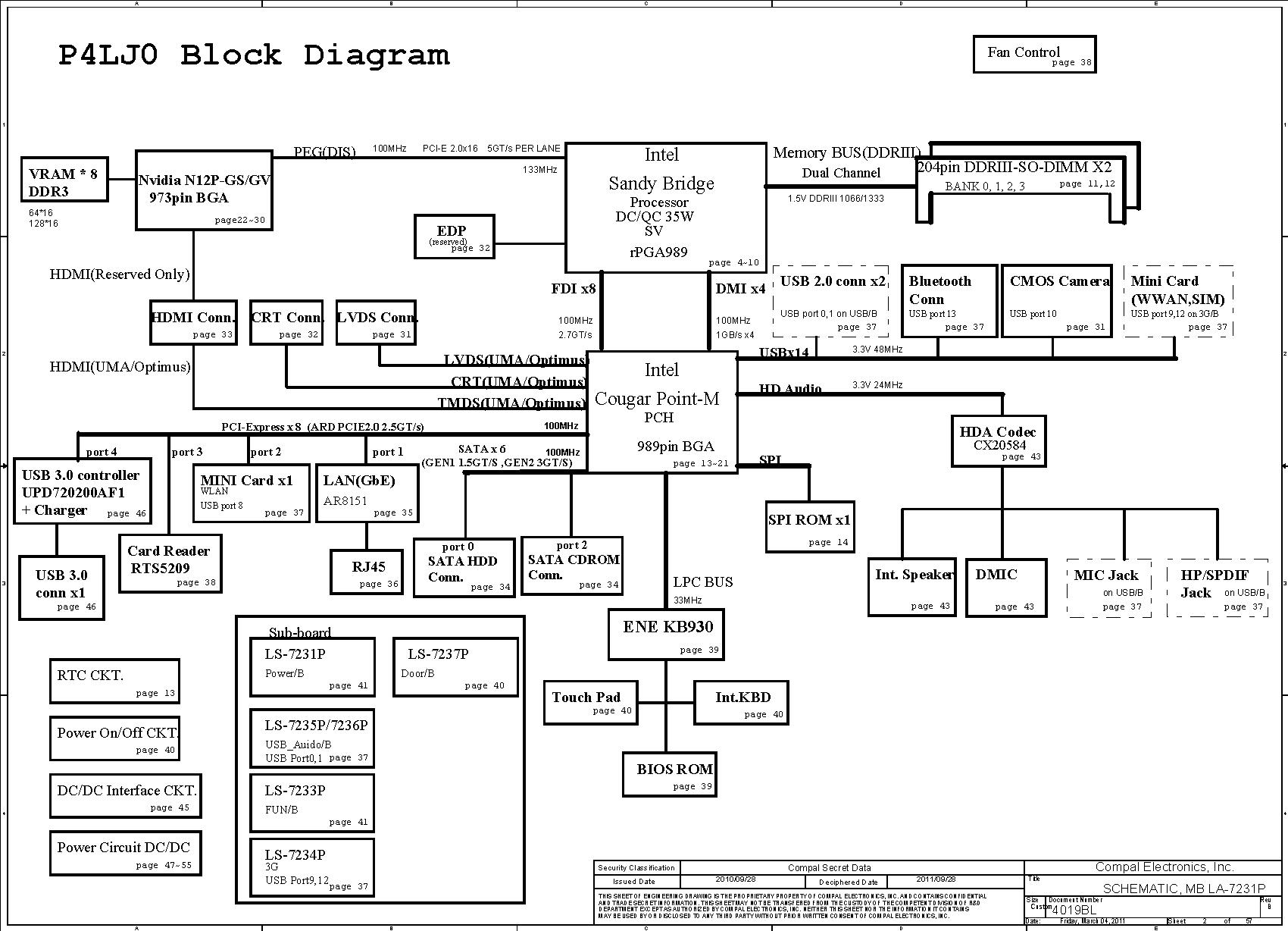 ACER Aspire 4830TG schematic